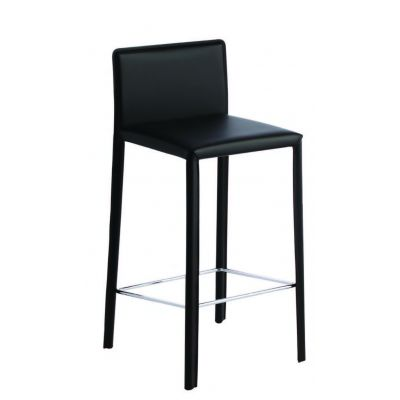photo TABOURET BAS 65 CM EN CUIR REGENERE lot de 2 pièces
