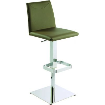 photo TABOURET BAS 65 CM EN CUIR REGENERE BOLZANO PISTON