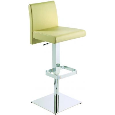 photo TABOURET BAS 65 CM EN CUIR REGENERE ENNA PISTON