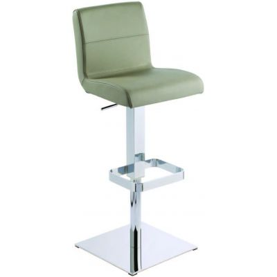 photo TABOURET BAS 65 CM EN CUIR REGENERE PRATO PISTON