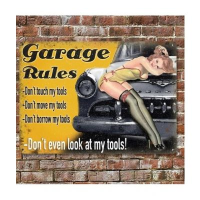 photo Plaque Vintage Metal 30 X 40 Garage