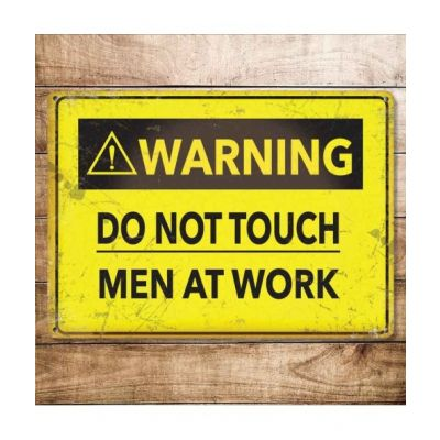 photo Plaque Vintage Metal 30 X 40 Men at Work